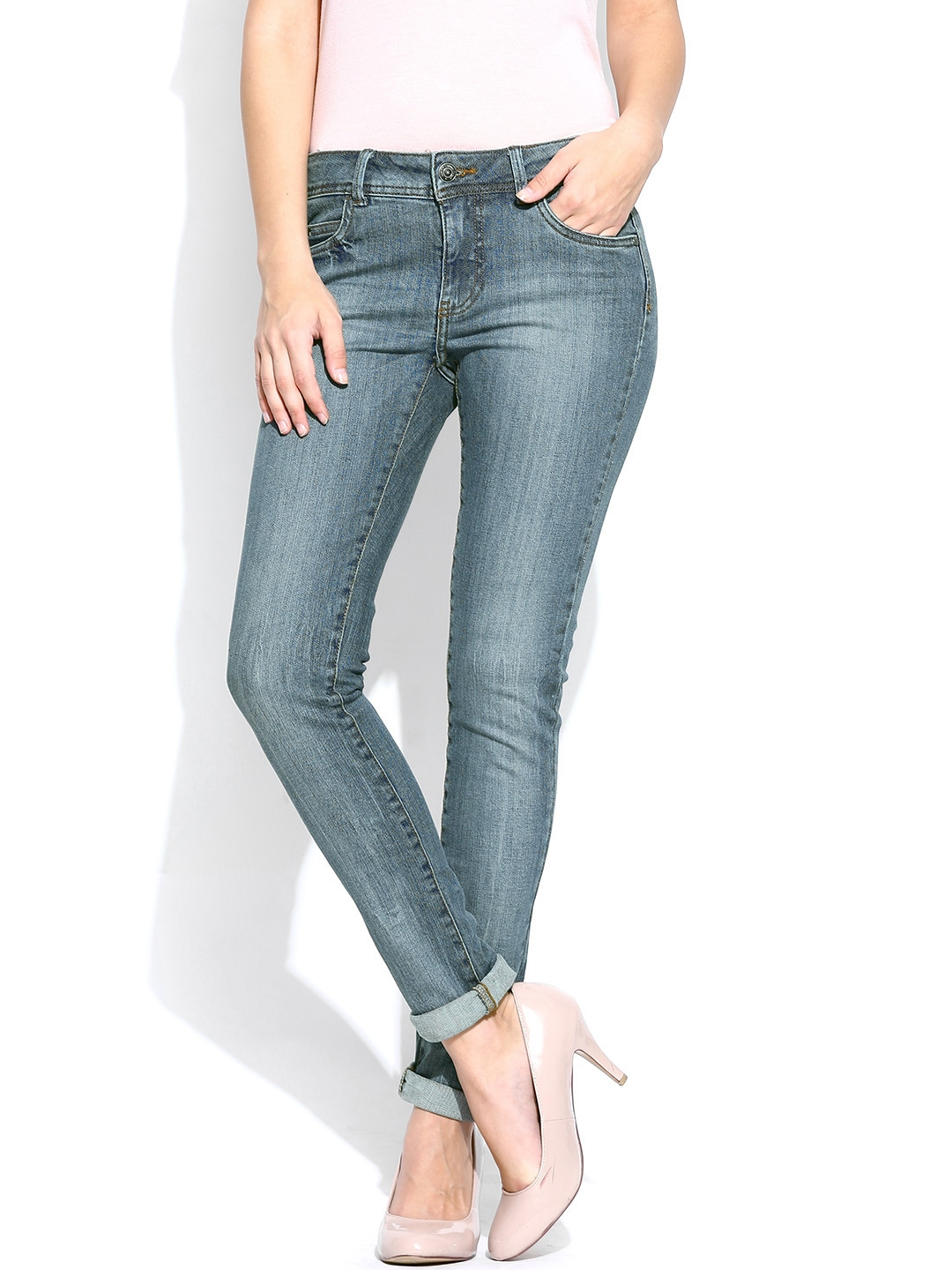 myntra vero moda blue skinny fit jeans 786183 buy myntra vero moda jeans at best price online. Black Bedroom Furniture Sets. Home Design Ideas