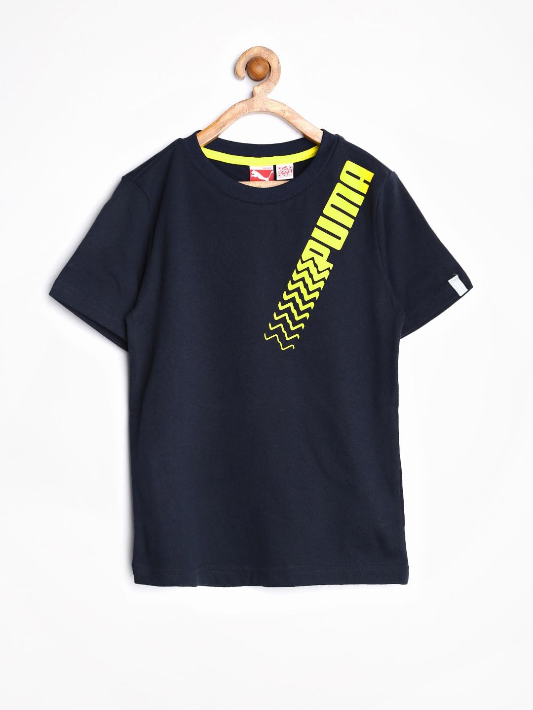 Myntra Puma Boys Navy Active Cell Printed T Shirt 786626