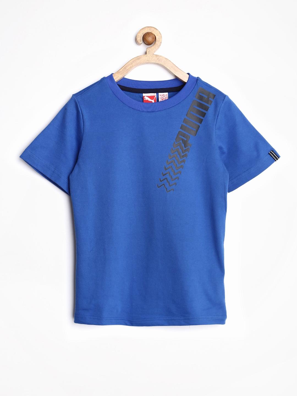 Myntra Puma Boys Grey Melange Tom Jerry Printed T Shirt