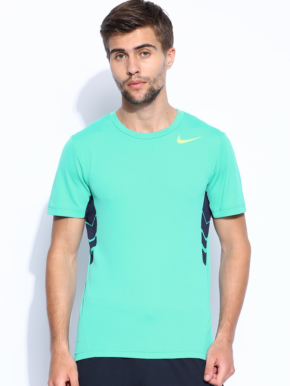 Myntra nike green pro training t shirt 788263 buy myntra for Nike t shirt price