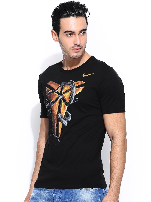 Myntra nike black kobe foundation sheath basketball t for Nike t shirt price