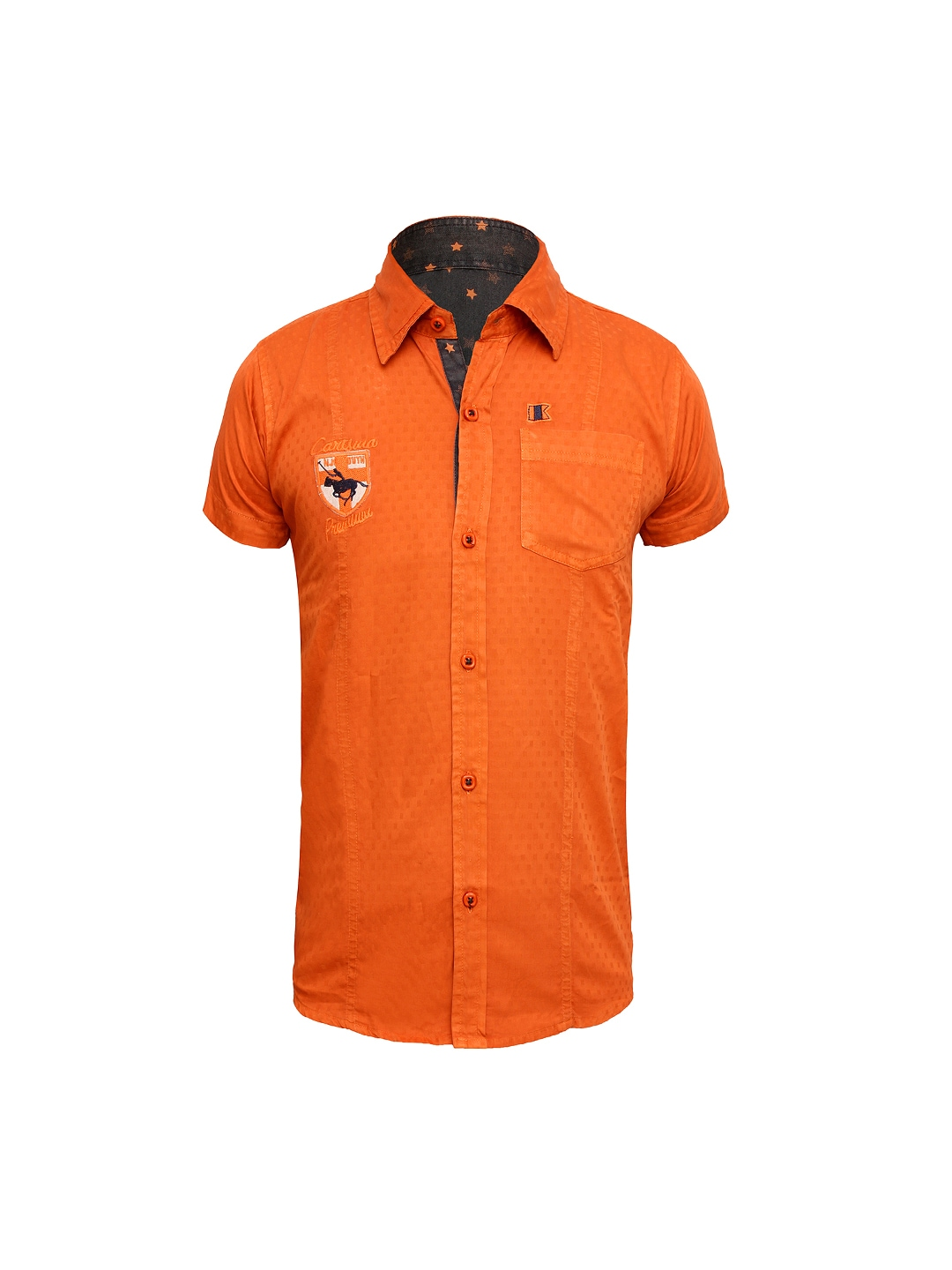 Myntra jazzup boys orange casual shirt 788547 buy myntra for Shirts online shopping lowest price