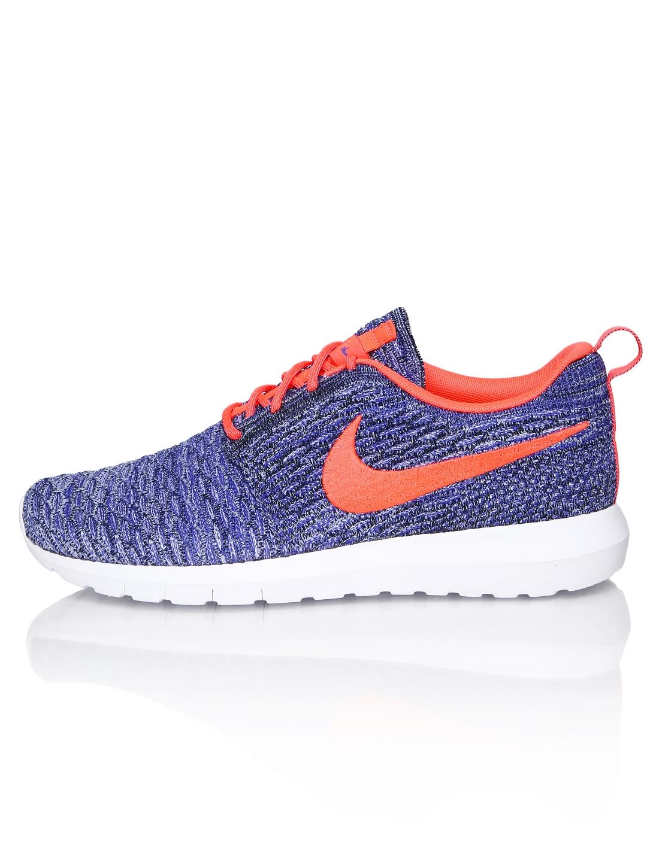 myntra nike blue flyknit roshersan casual shoes 790830