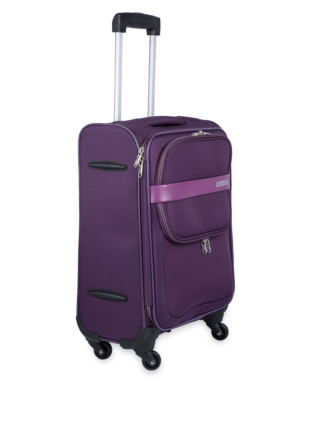 myntra american tourister unisex purple large trolley bag