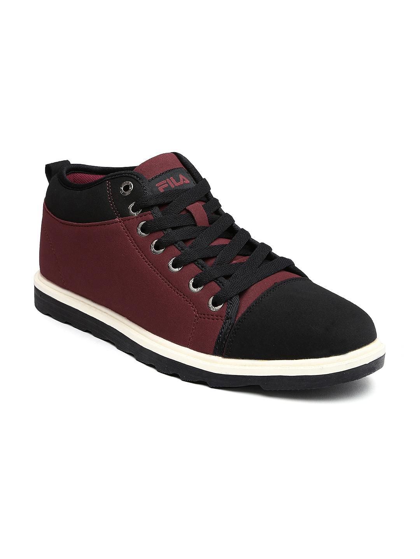 myntra fila burgundy black casual shoes 794226 buy