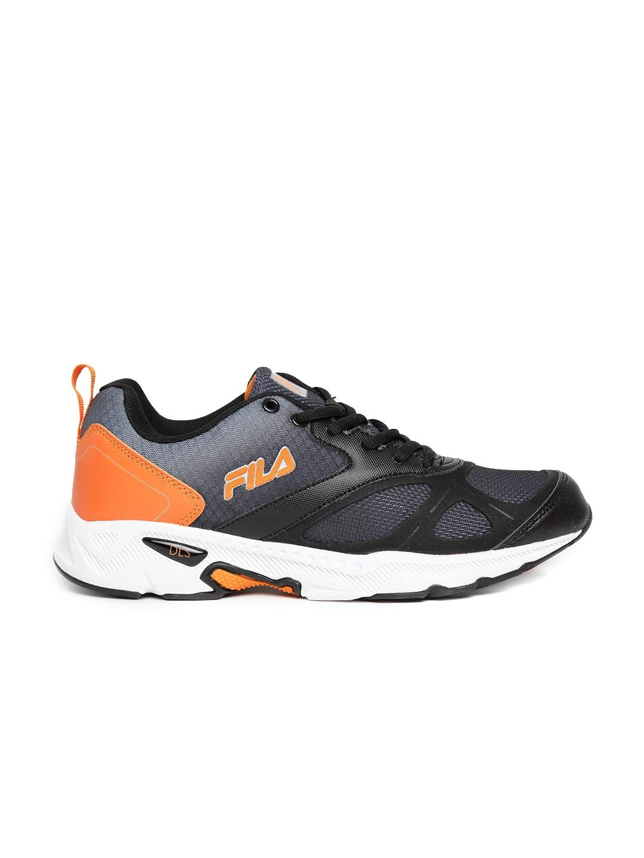 myntra fila black tracker running shoes 794257 buy