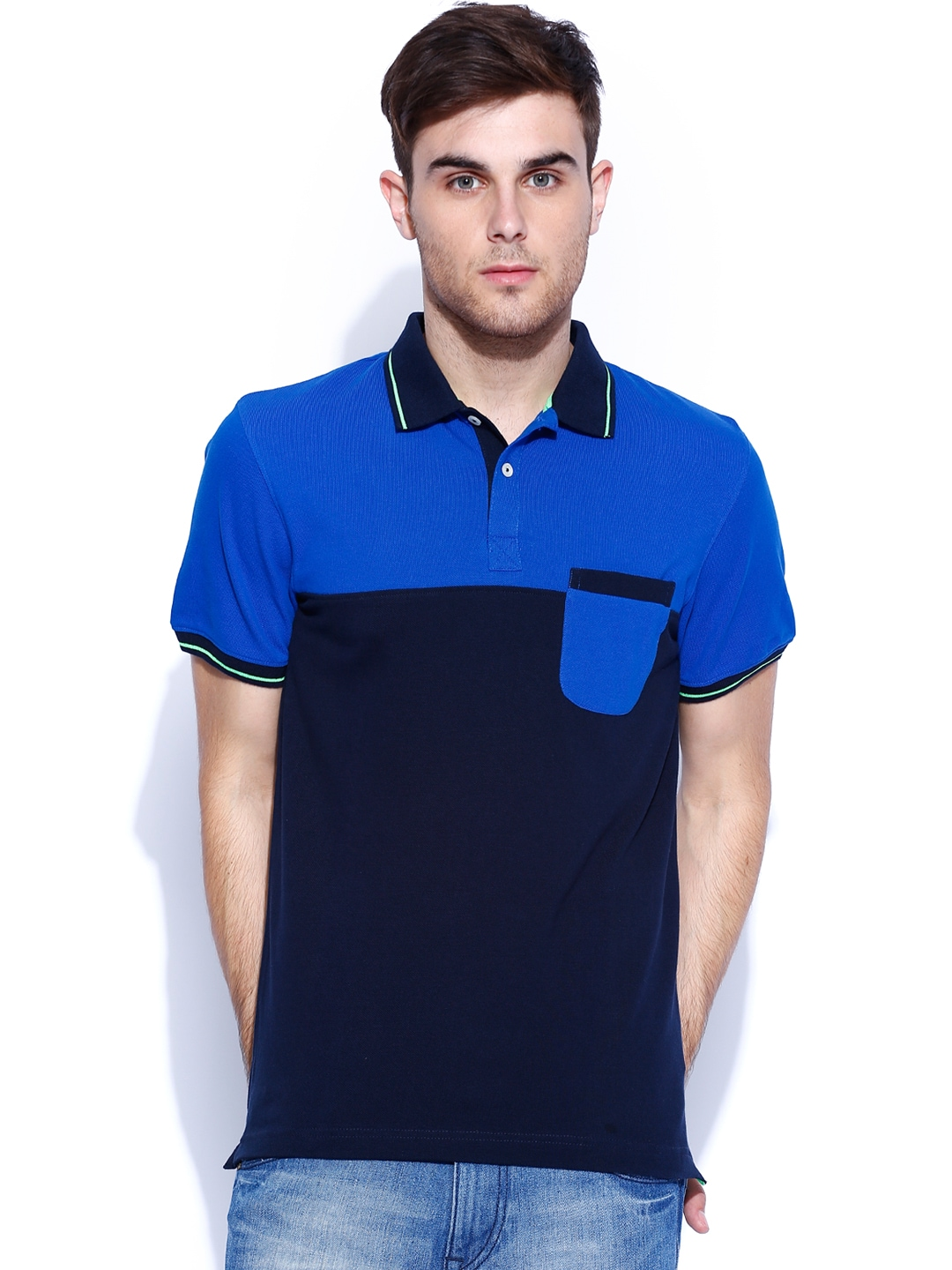 Myntra indian terrain navy polo t shirt 795169 buy for Polo t shirts india