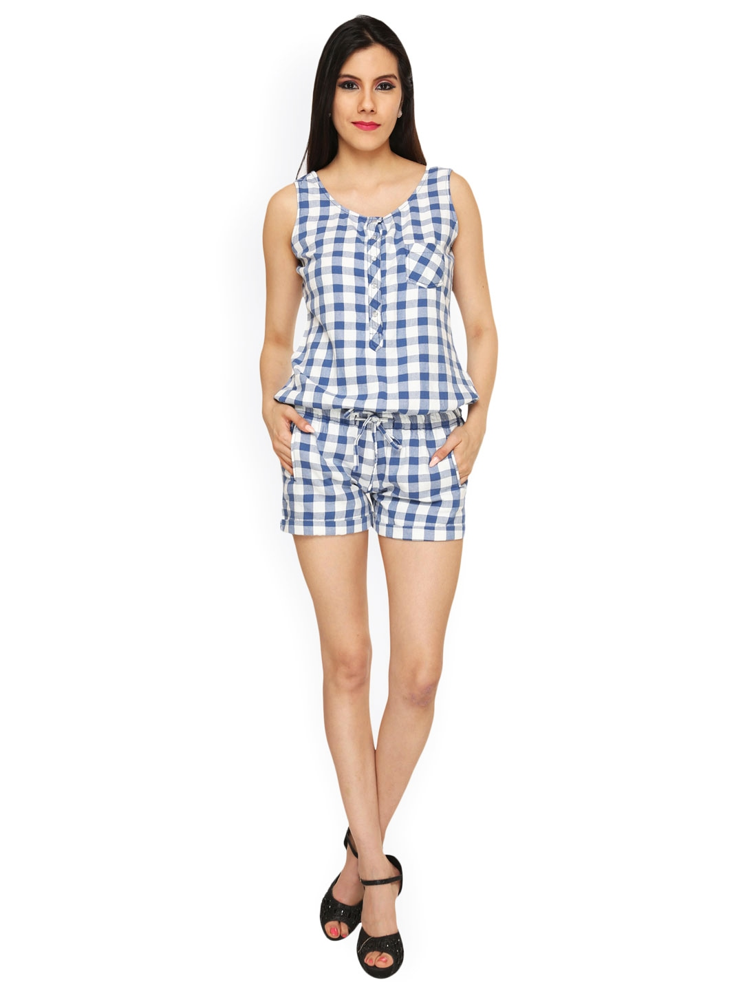 Find the latest and trendy styles of checked playsuit at ZAFUL. We are pleased you with the latest trends in high fashion checked playsuit.