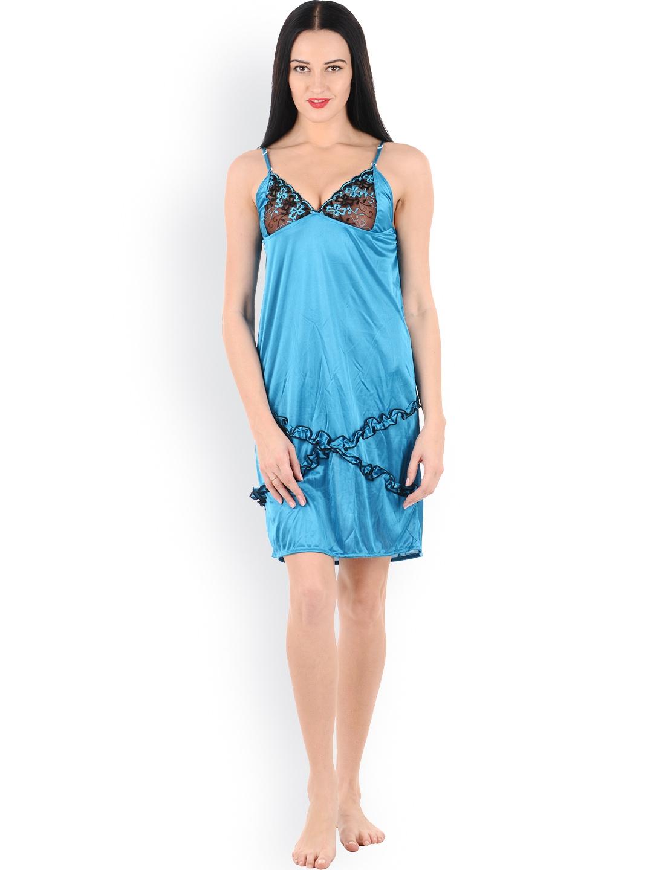 myntra klamotten turquoise blue baby doll nightdress xx03 798552 buy myntra klamotten. Black Bedroom Furniture Sets. Home Design Ideas