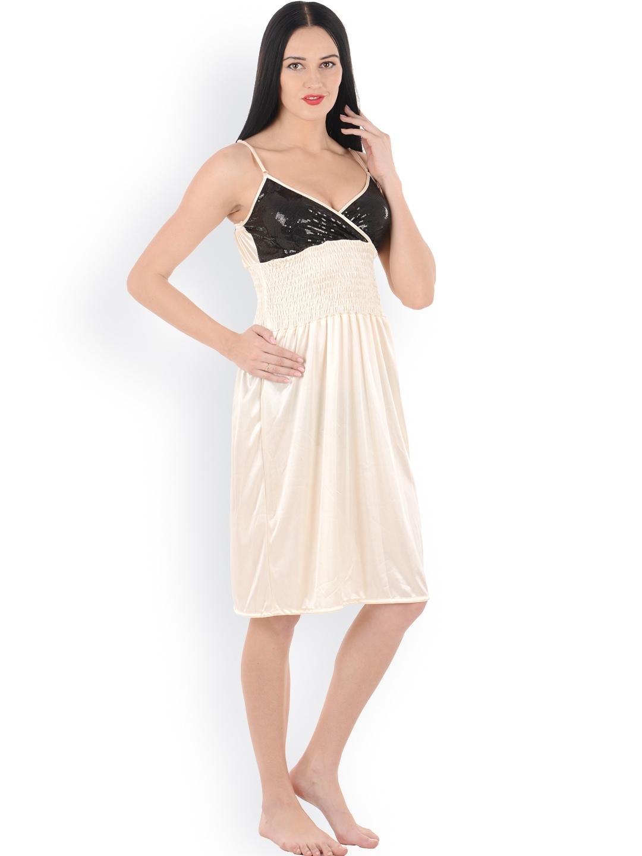 myntra klamotten beige baby doll nightdress xx24 798553 buy myntra klamotten nightdress at. Black Bedroom Furniture Sets. Home Design Ideas