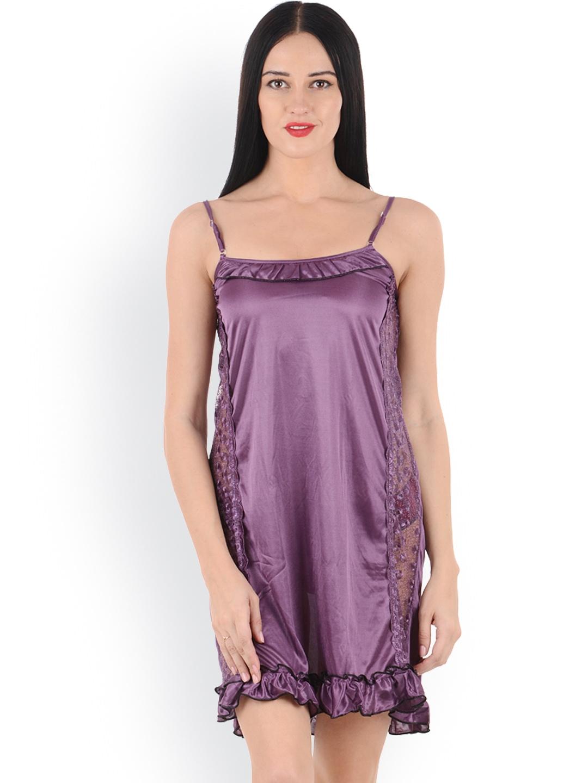 myntra klamotten pink nightdress 817941 buy myntra klamotten nightdress at best price online. Black Bedroom Furniture Sets. Home Design Ideas