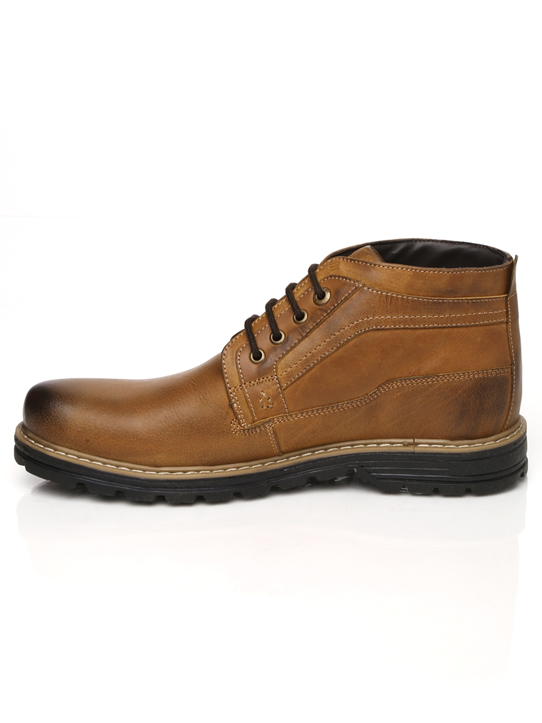 myntra weinbrenner by bata brown mid top leather