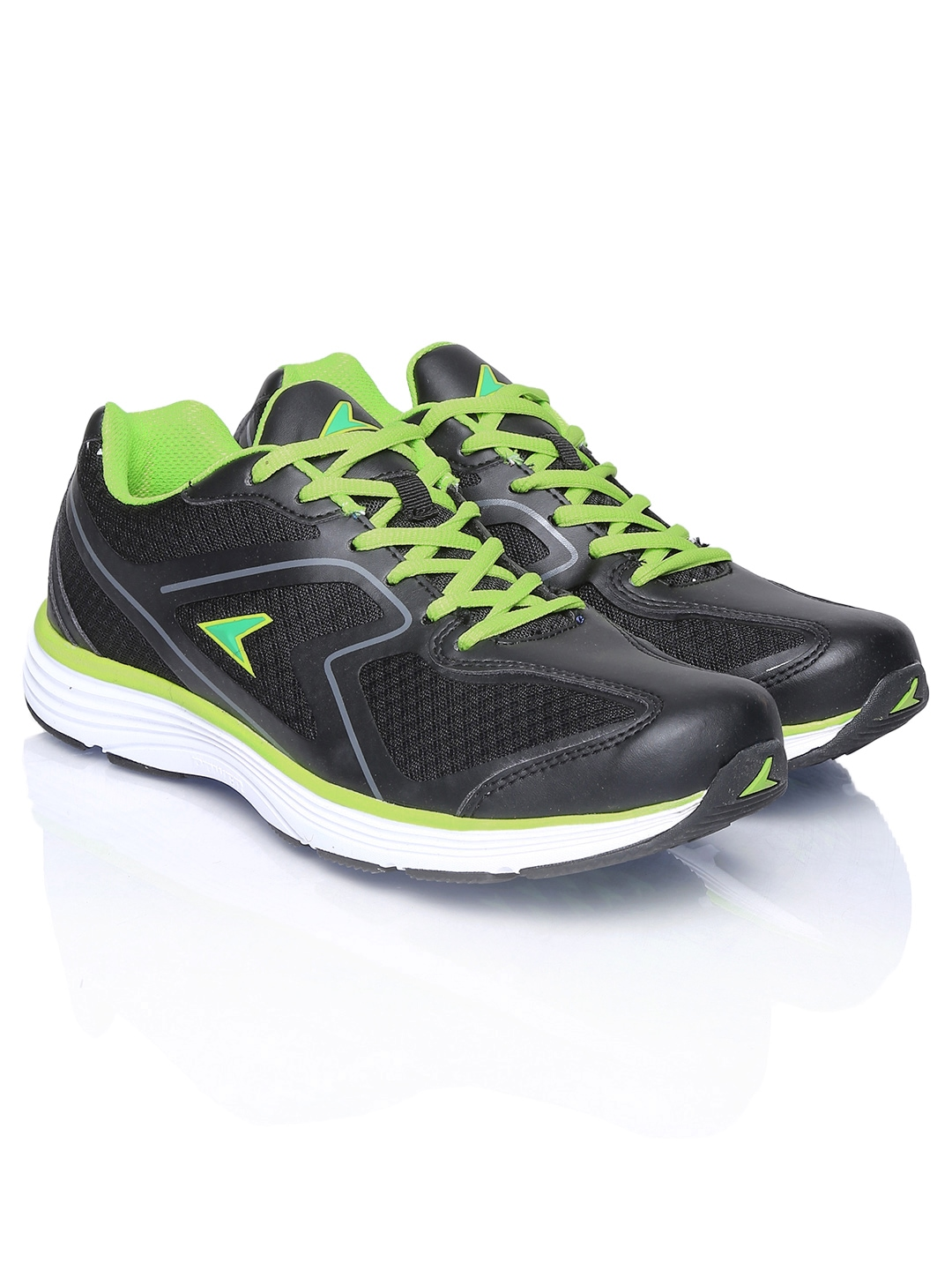 myntra power by bata black cosmo ind115 running shoes