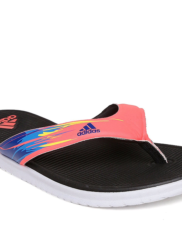 myntra adidas women neon pink black sc beach flip flops. Black Bedroom Furniture Sets. Home Design Ideas