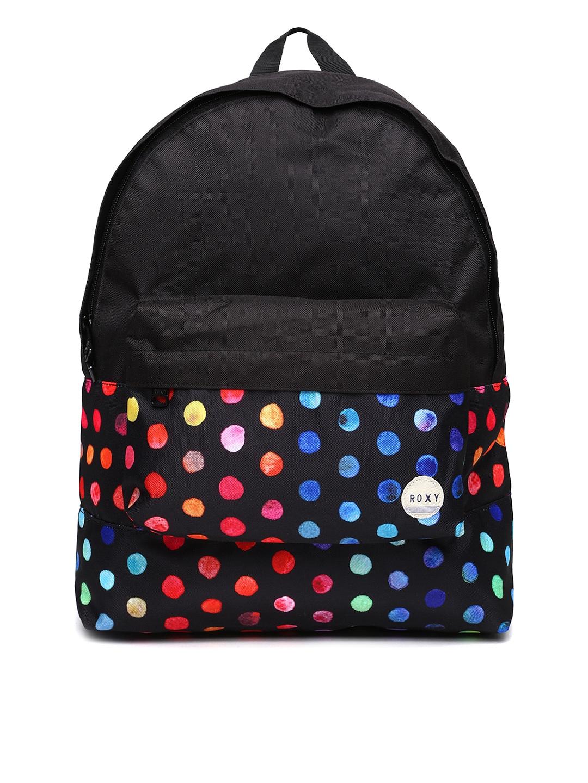 Myntra Roxy Women Black Printed Backpack 800039