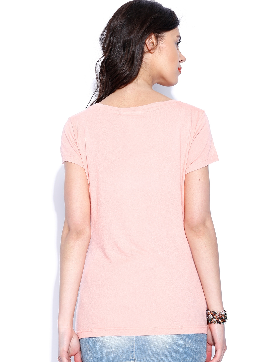 Myntra only pink printed t shirt 800775 buy myntra only for Shirts online shopping lowest price