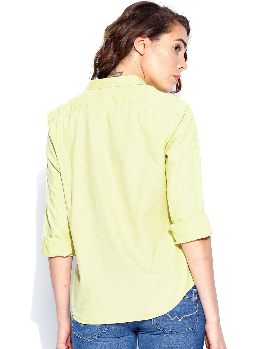 Myntra levis lime green linen shirt 801136 buy myntra for Shirts online shopping lowest price