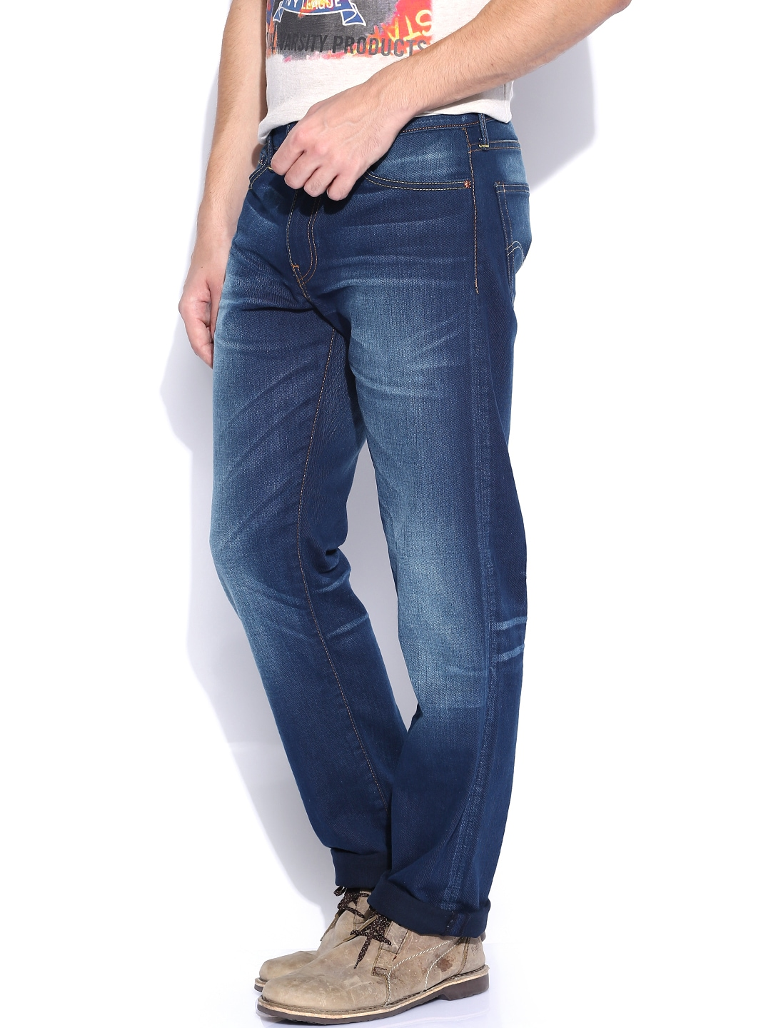Despite the low price tag, the jeans have many of the same high quality construction details you'd find on mid to end-level denim like hidden rivets on the back .