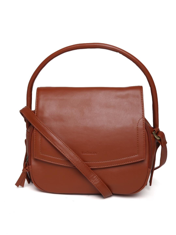 Simple Women_WomenBags_Hand Bags_Blue Leather Handbag