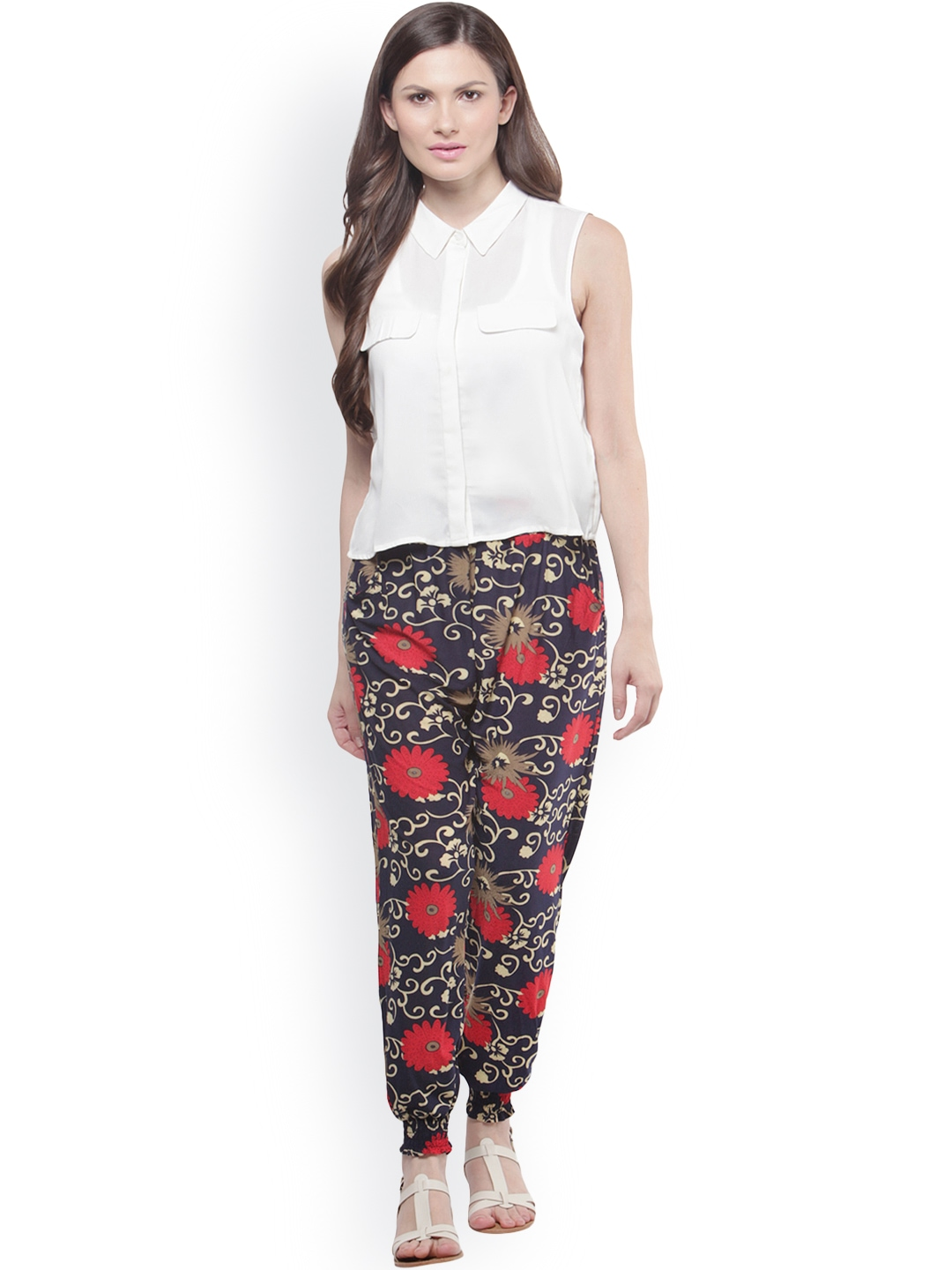 Red and White elephant print bohemian harem pants from Thailand with 2 Pockets, elastic waist and ankles. $1 for every item sold is donated to help preserve the Elephants for many years to come!/5().