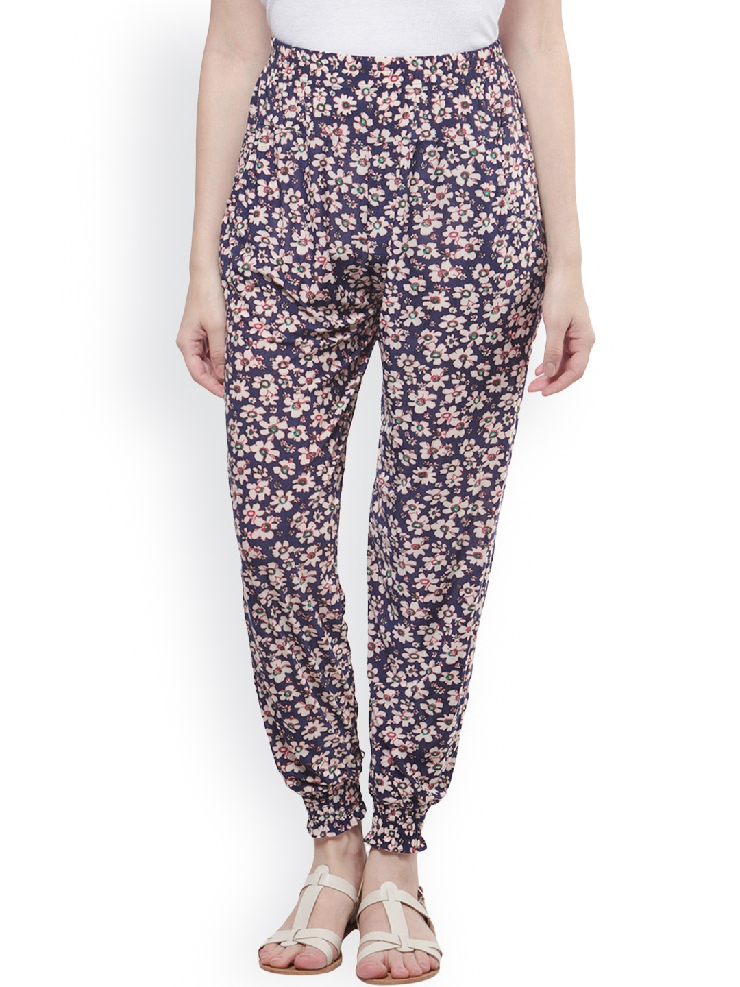 Elegant Myntra Sakhi Sang Women Multicoloured Printed Harem Pants 806804  Buy Myntra
