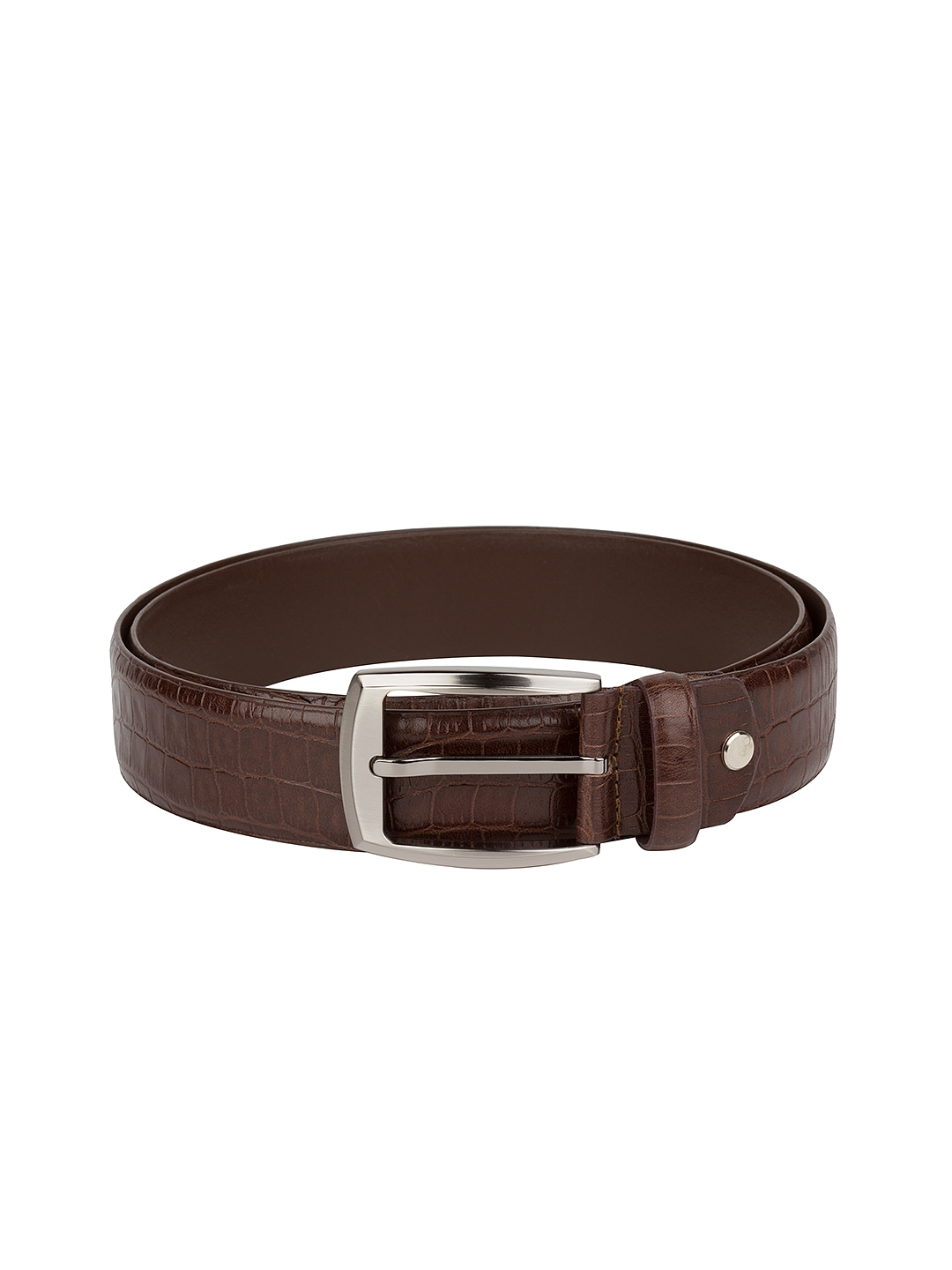 myntra gildermen brown leather belt 811183 buy