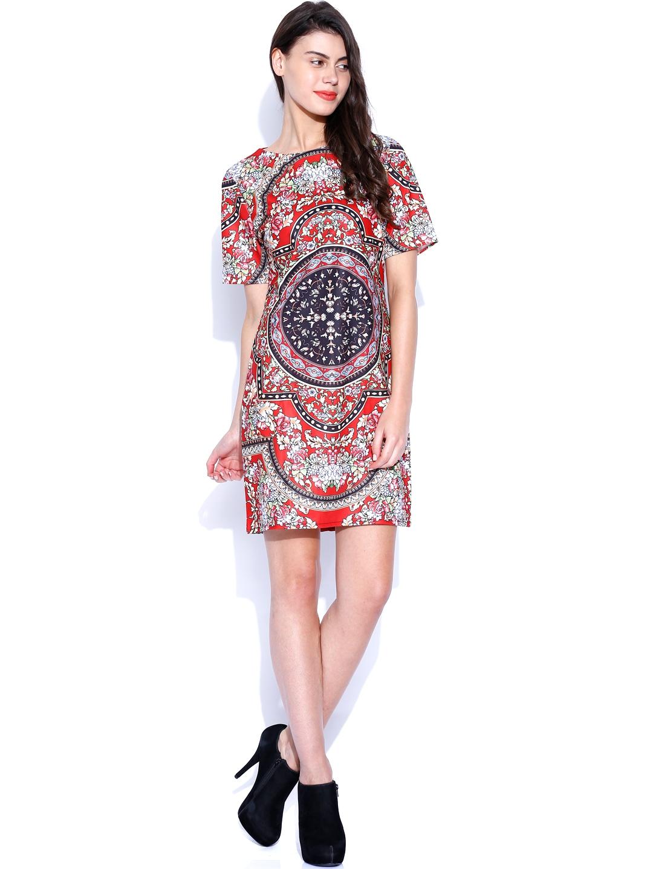 Myntra SALT Multicoloured Printed Tailored Dress 813454 ...
