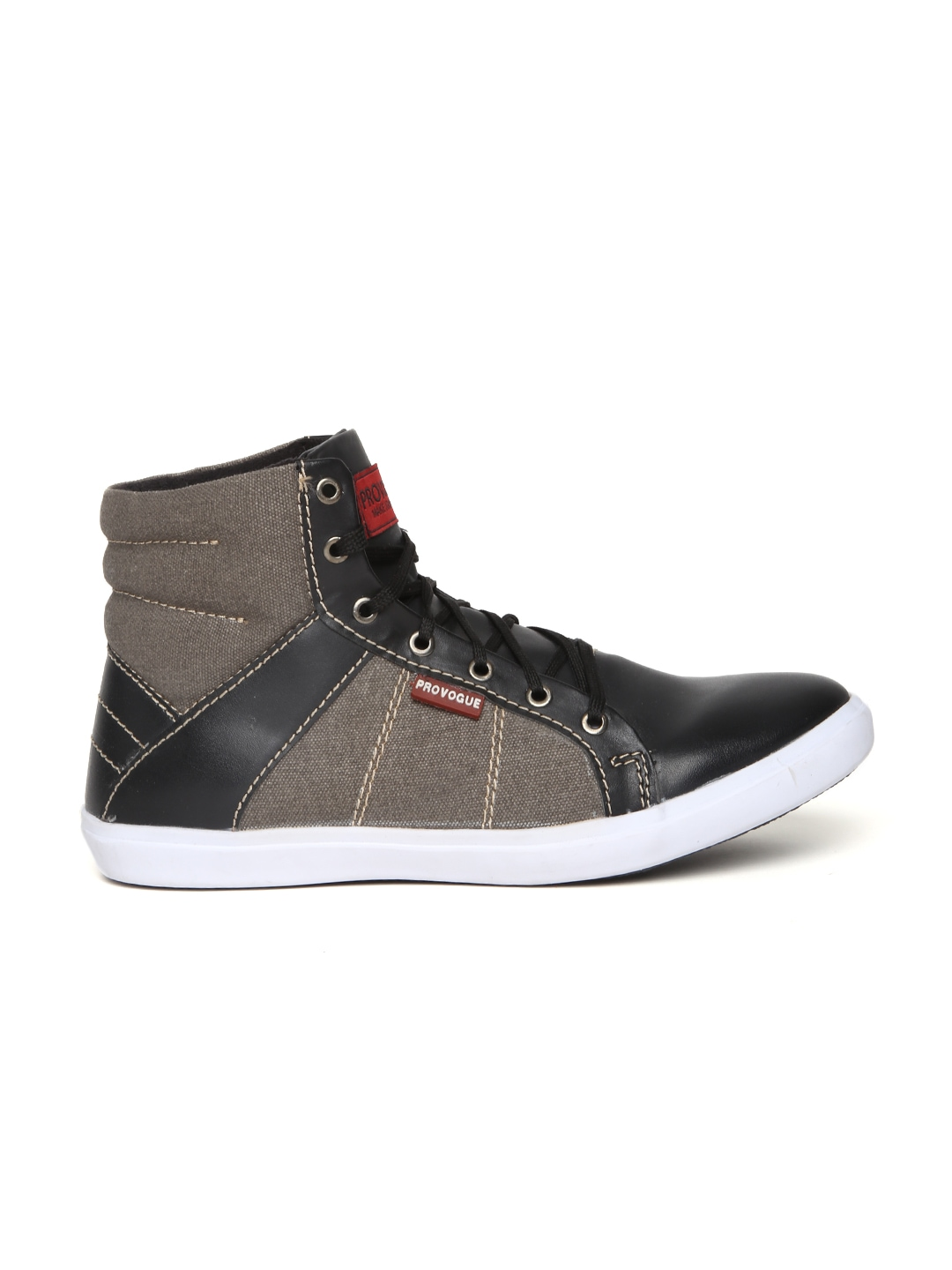 myntra provogue black taupe casual shoes 814762