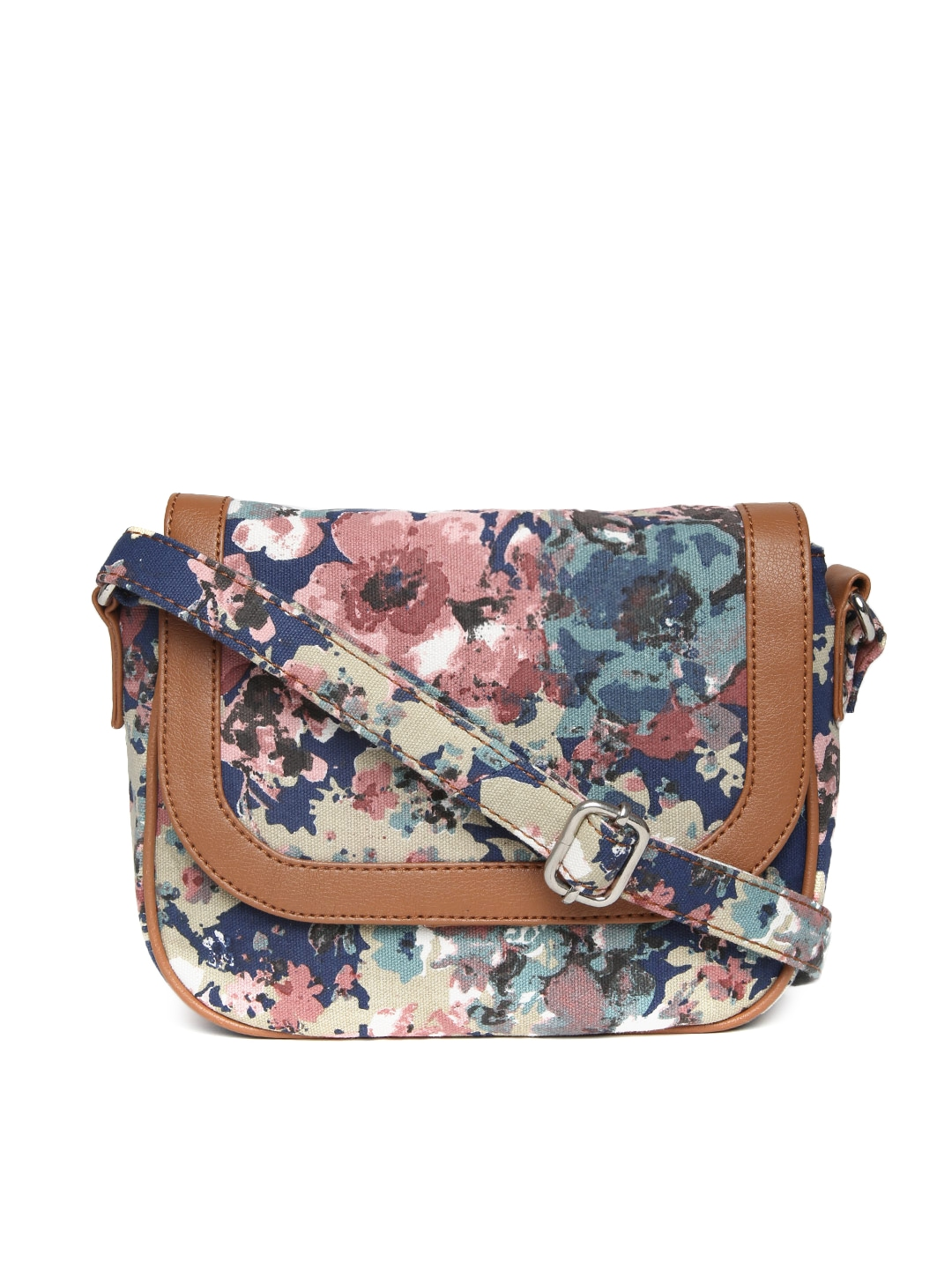 Buy Bata Multicoloured Floral Print Sling Bag - Handbags for Women ...