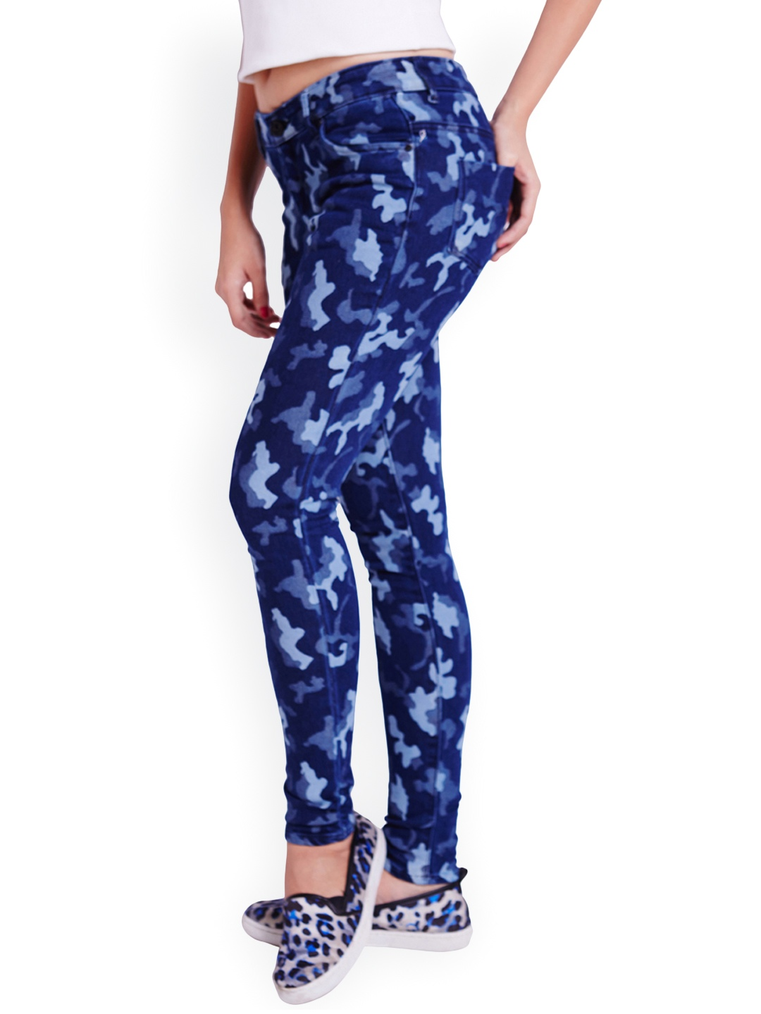 Lastest Mens Military Blue Camouflage Camo Casual Pants Joggers Sport