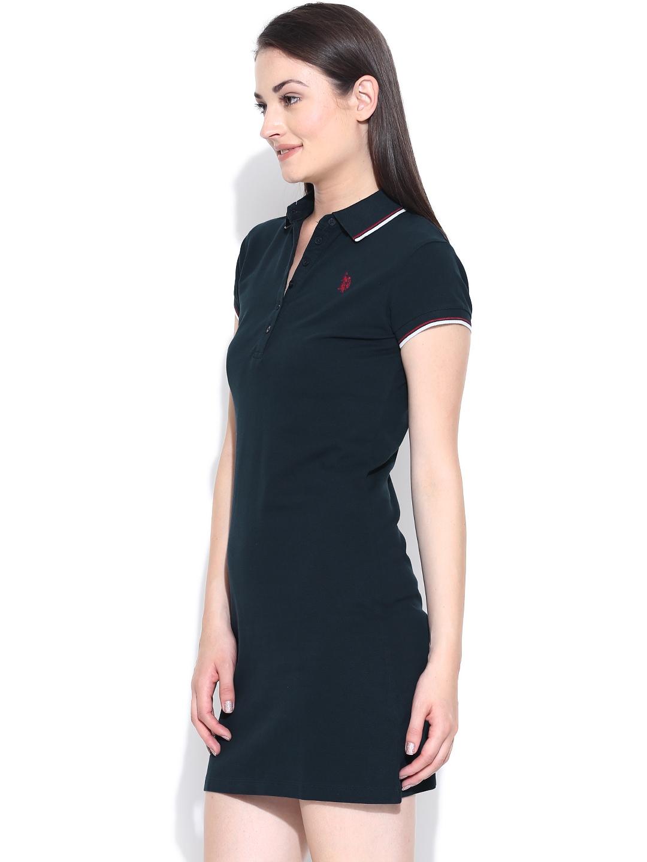 Myntra U.S. Polo Assn. Women Navy T-shirt Dress 819300 ...