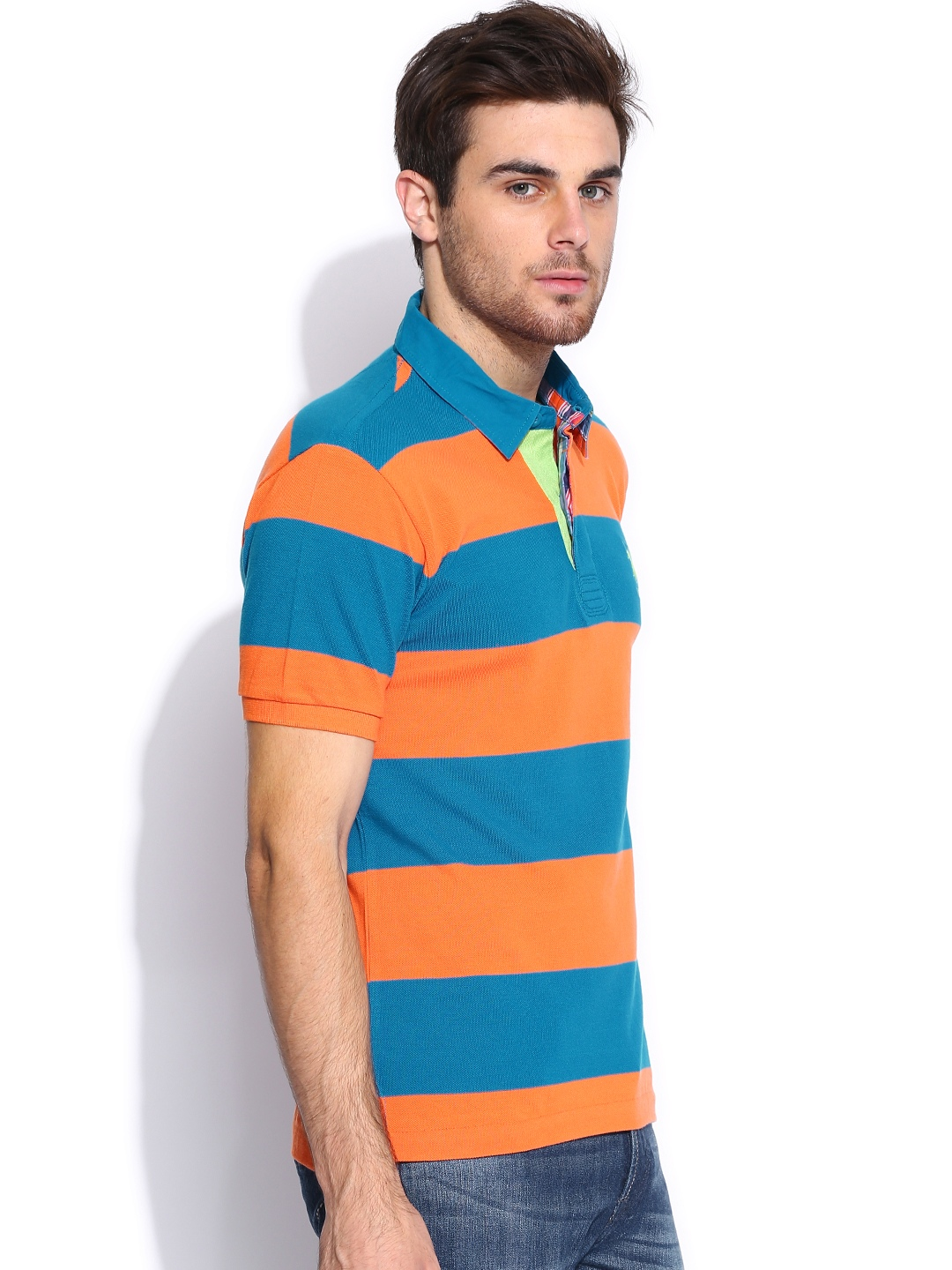 You don't need a pony for these cool polo shirts. From the beach to the office, our casual yet stylish Blue Orange Men's Polo Shirts make you the talk of the town. We have mens polos and womens polos in a variety of colors and adult sizes, giving you the ever-appealing look and feel you're after.