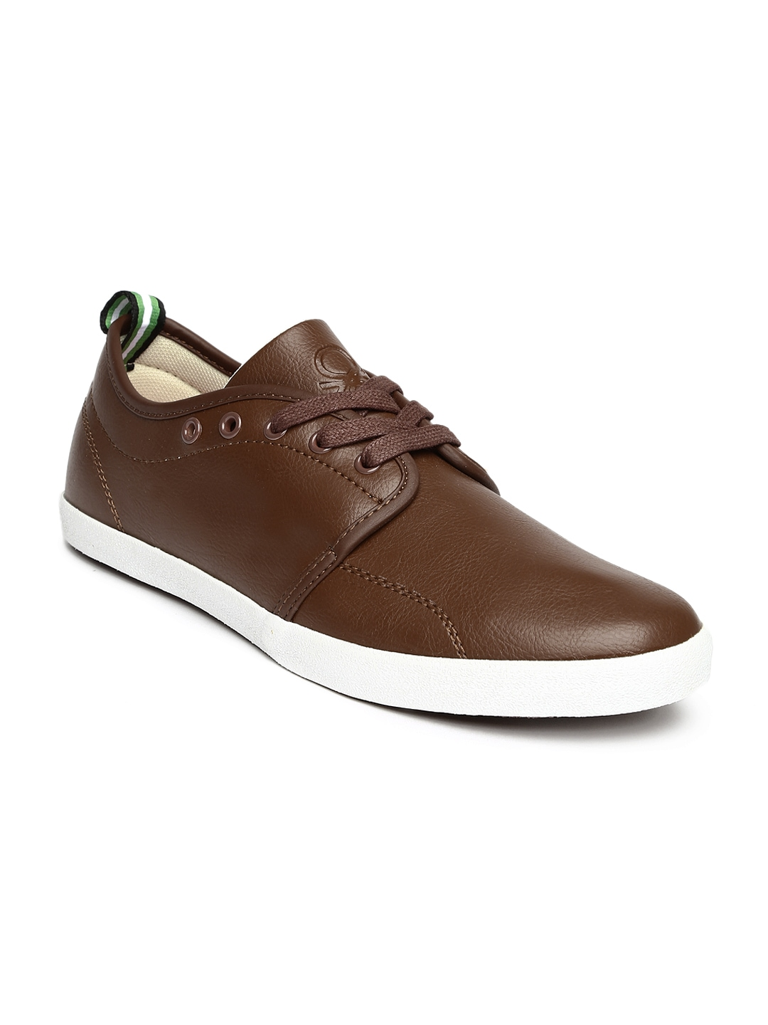 myntra united colors of benetton brown casual shoes