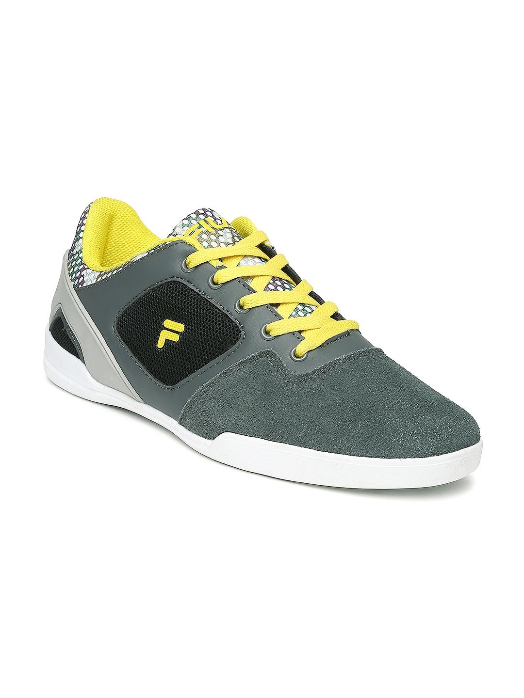 myntra fila grey casual shoes 825907 buy myntra fila