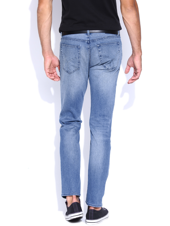 Myntra Calvin Klein Jeans Blue Skinny Jeans 831004