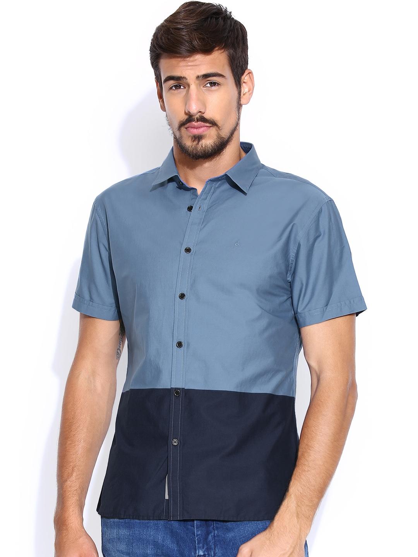 Myntra Calvin Klein Jeans Blue Casual Shirt 831010 Buy