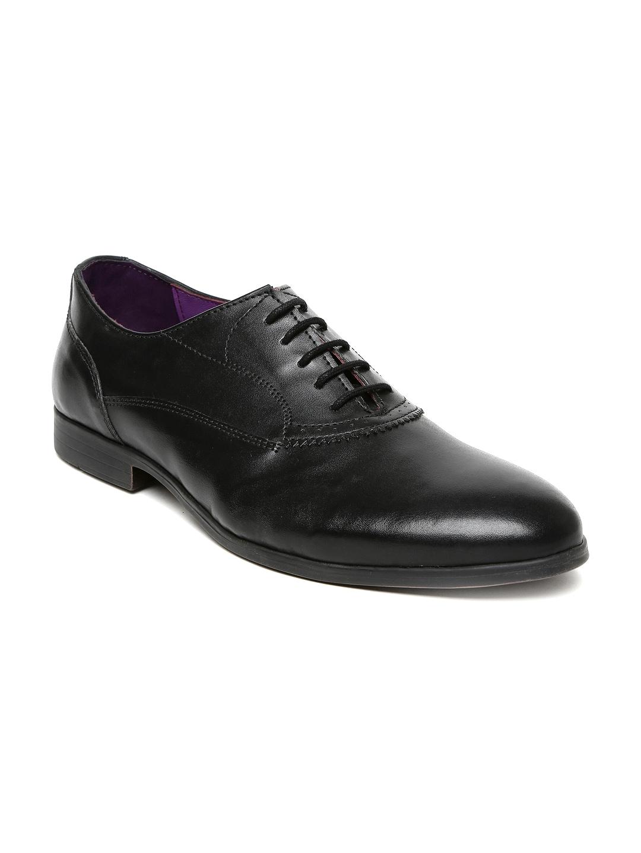 myntra knotty derby black formal shoes 832597 buy
