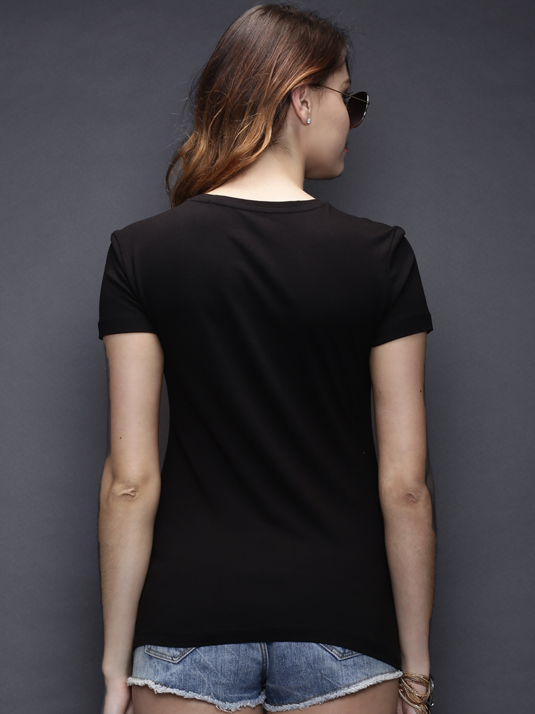 Myntra sela black perfect fit t shirt 834148 buy myntra for Perfect black t shirt