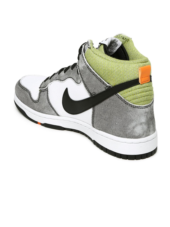 myntra nike white grey dunk cmft casual shoes 844634