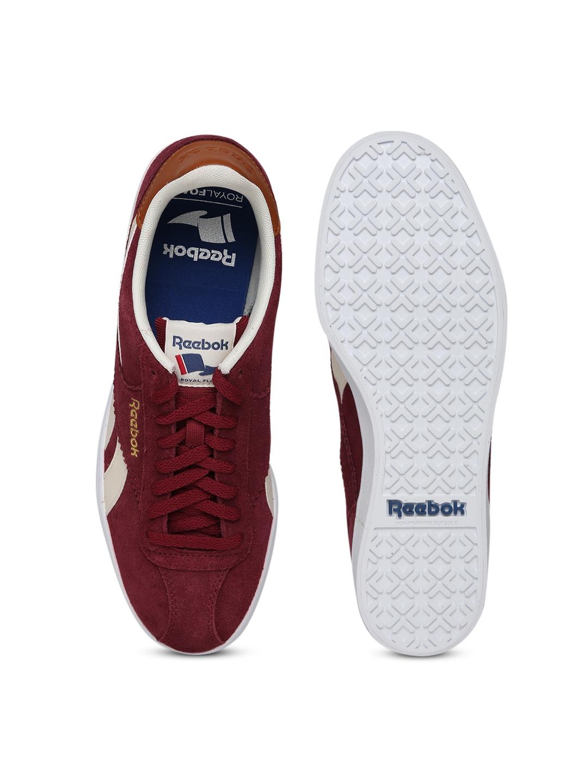myntra reebok classic maroon royal alperez sports