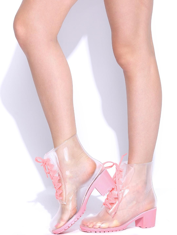 Buy Kook N Keech Women Transparent Rain Boots - Casual Shoes for ...