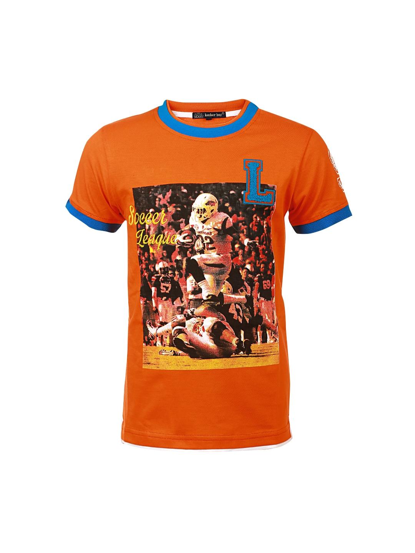 Myntra Lumber Boy Orange Printed T Shirt 854661 Buy