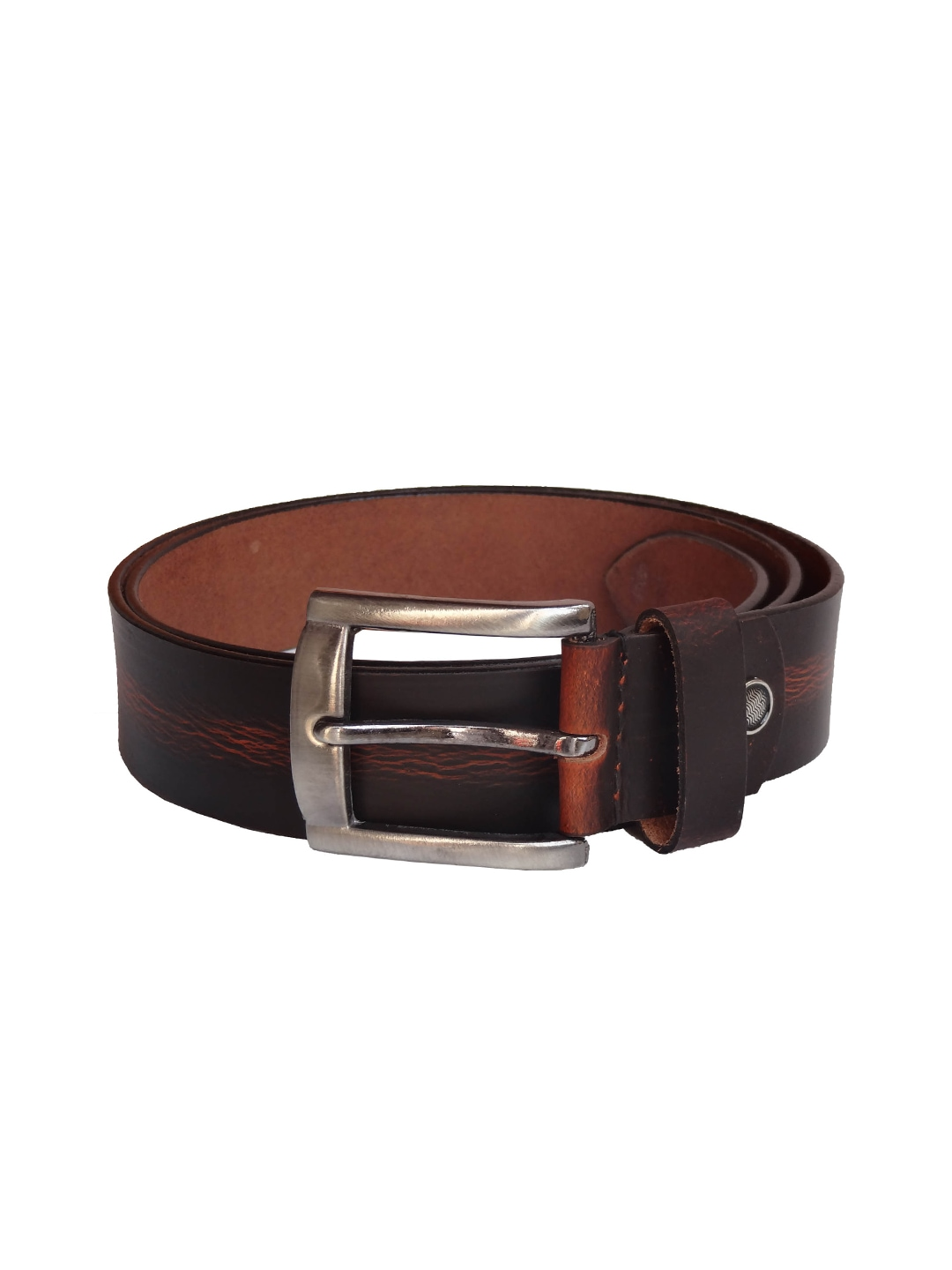 myntra excorio brown leather belt 854666 buy myntra