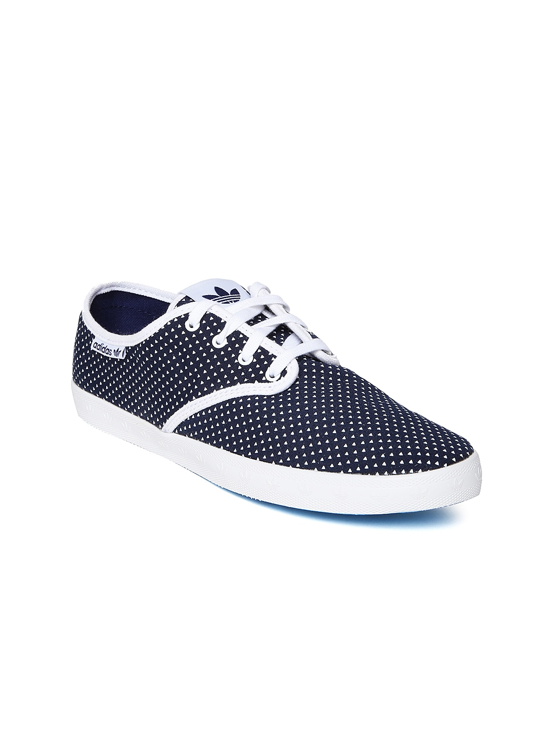 myntra adidas originals navy white printed adria