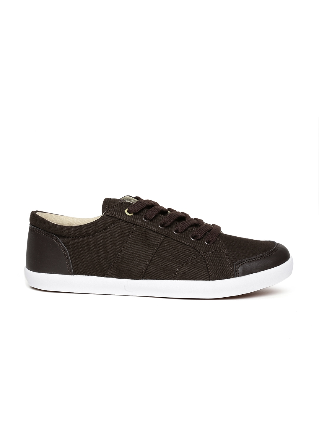 myntra roadster brown canvas shoes 856902 buy myntra