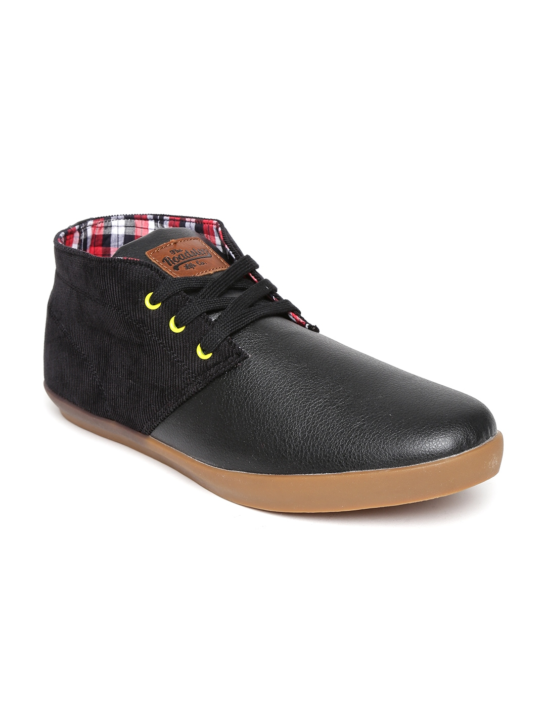 myntra roadster black casual shoes 856912 buy myntra