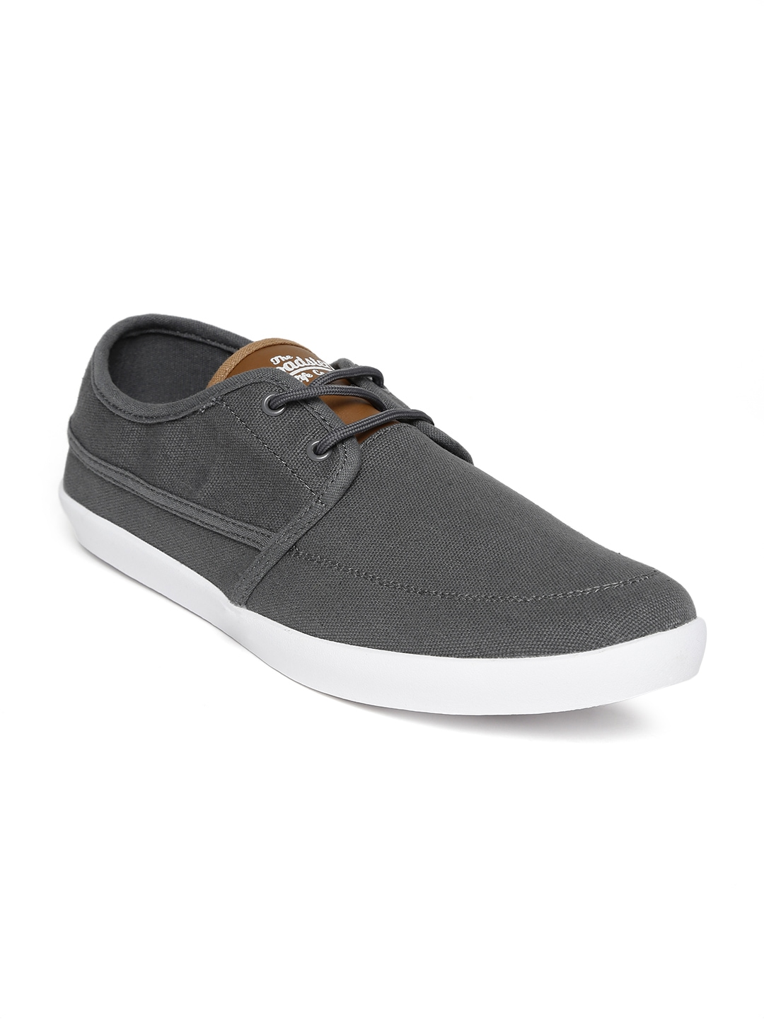 myntra roadster grey canvas shoes 856916 buy myntra