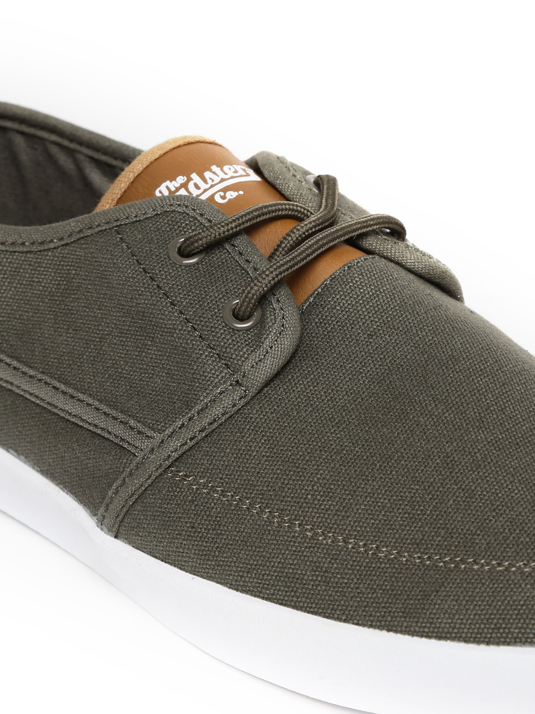 myntra roadster olive green canvas shoes 856917 buy