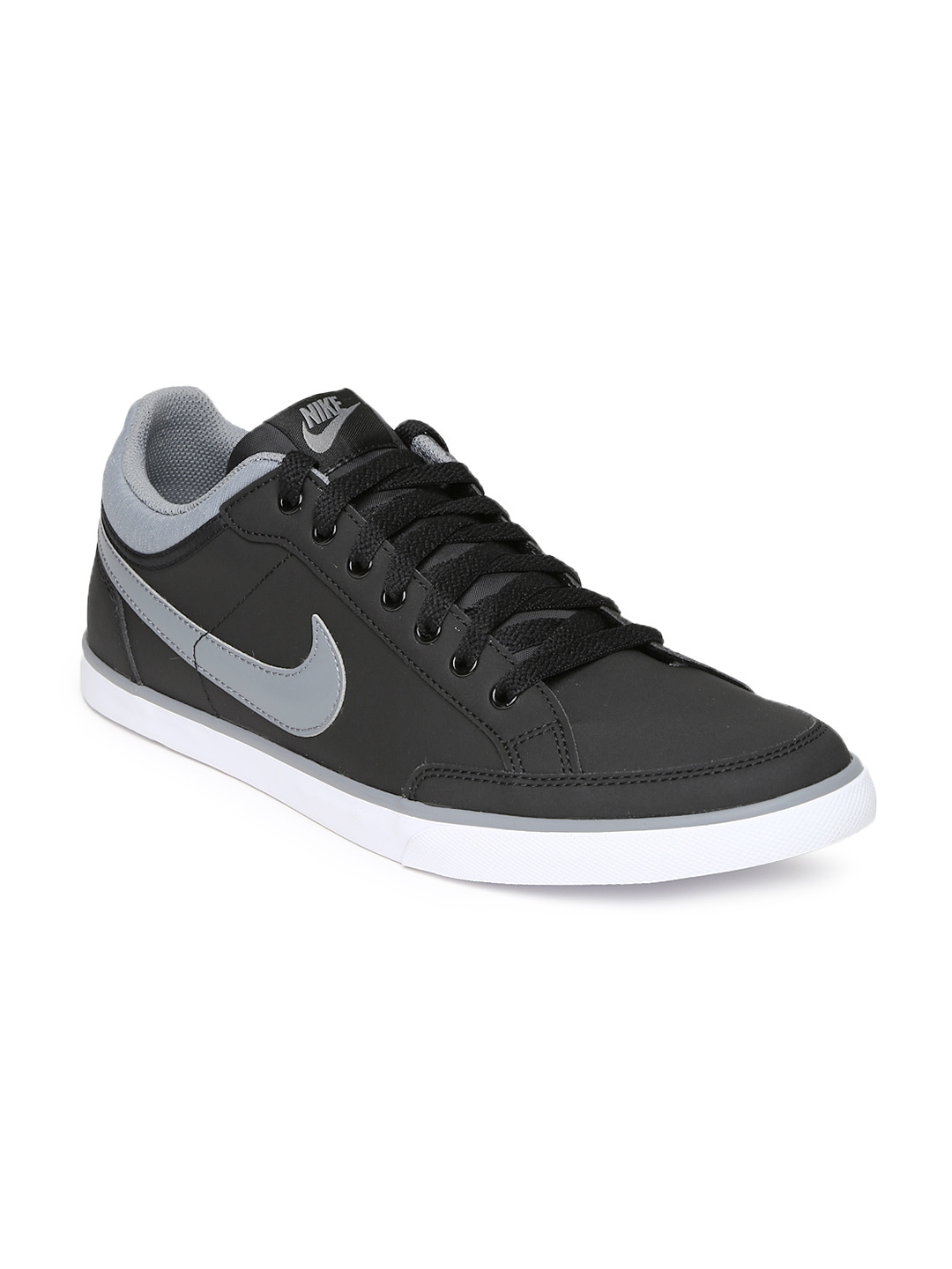 myntra nike black iii leather casual shoes