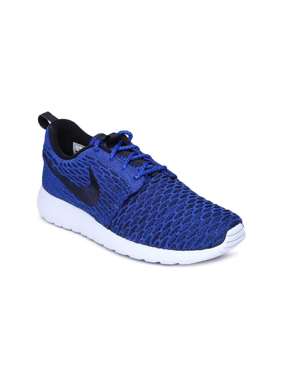 myntra nike blue roshe one flyknit casual shoes